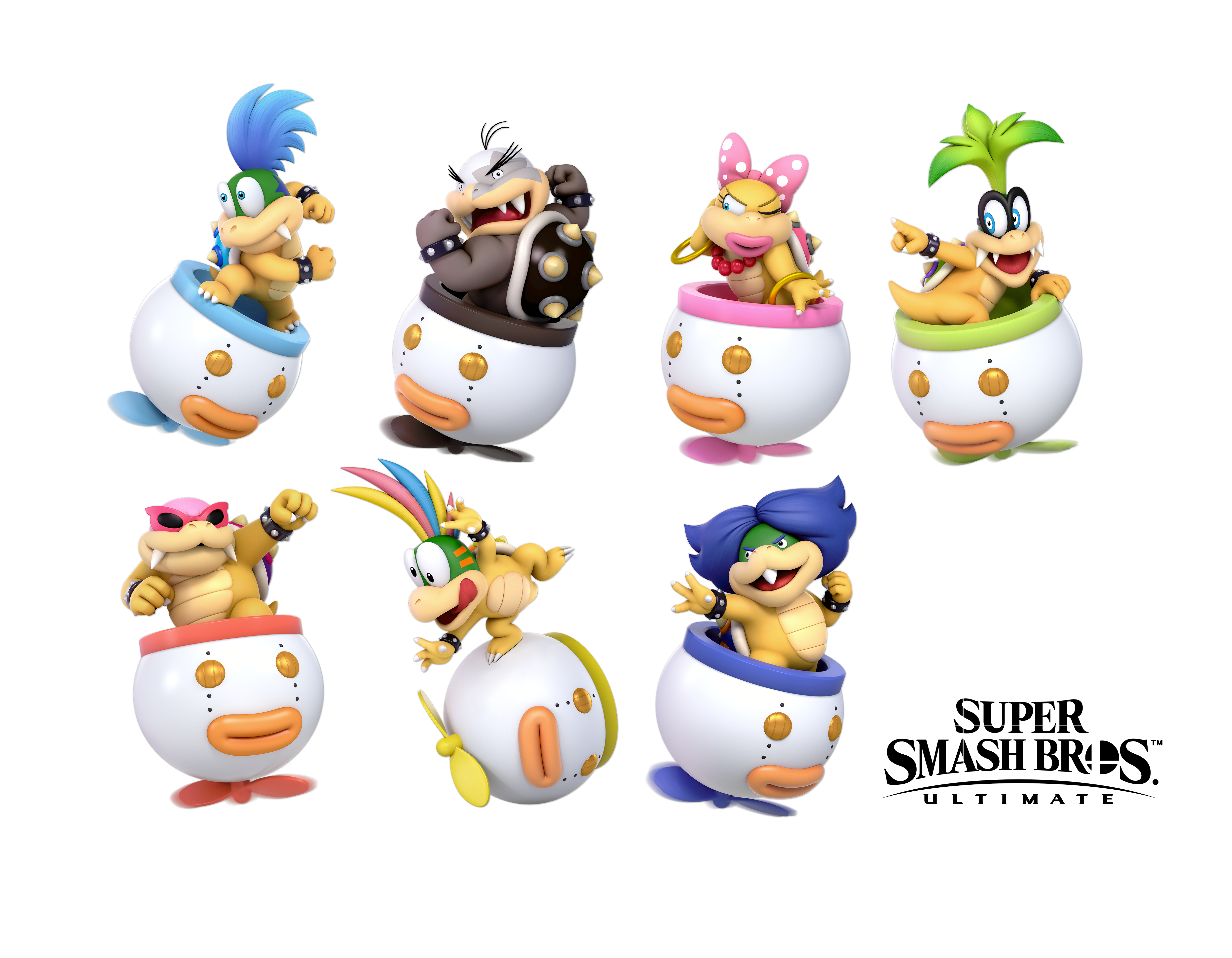 Smash Ultimate Koopalings Without Bowser Jr By