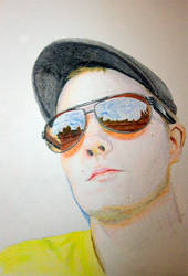 Self portrait in the making by teedark