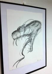 Snake drawing by teedark