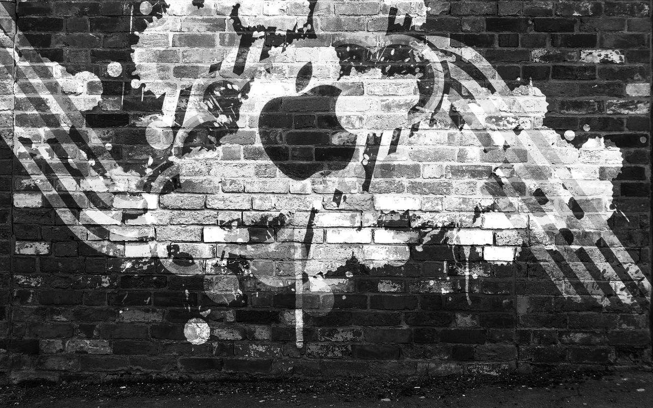 Apple tagg BW