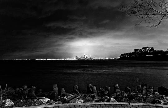 Cleveland from a far BW