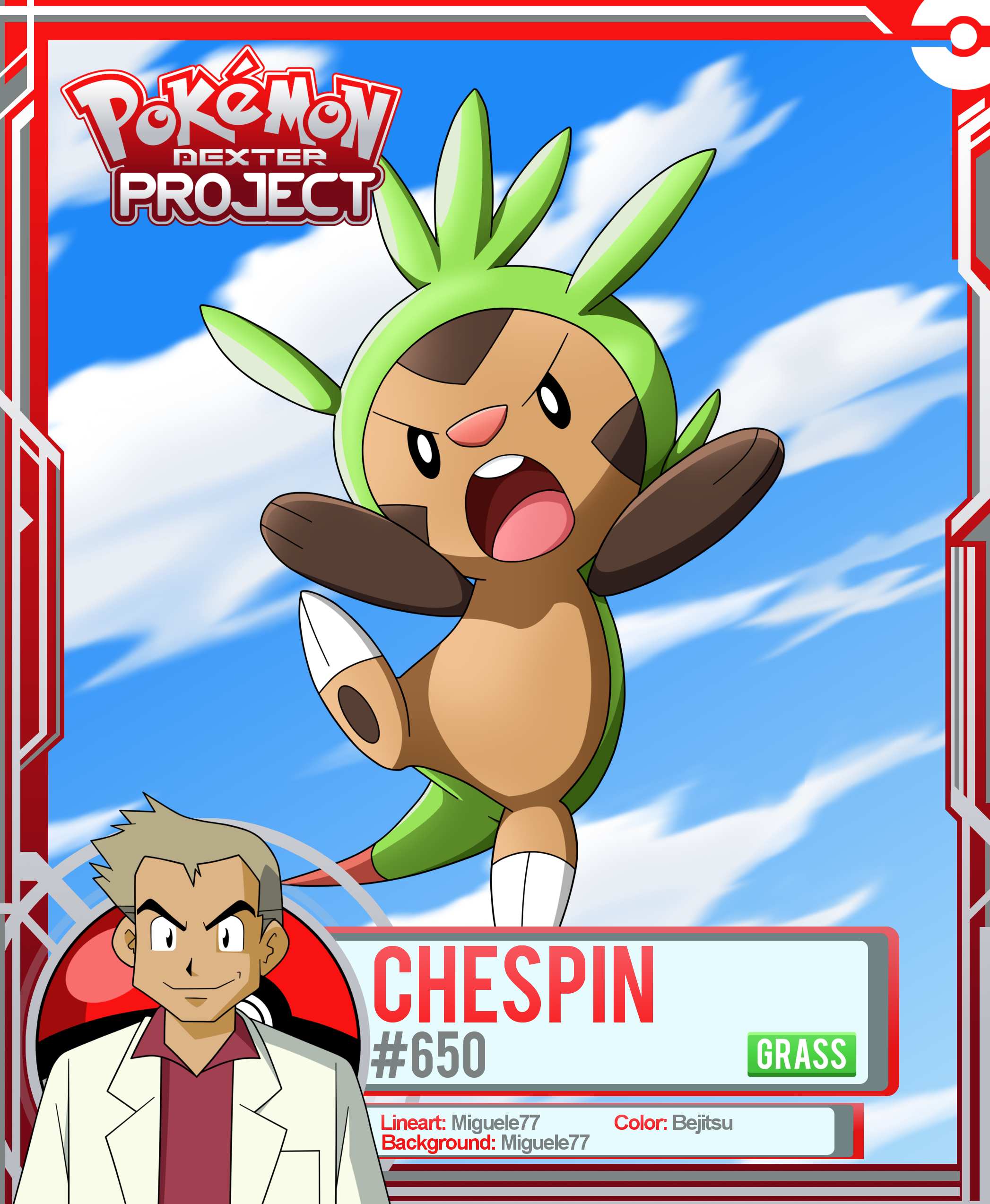 Pokemon - Chespin by PokemonDexterProject