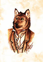 Lord Maccon in Anubis Form by MommySpike