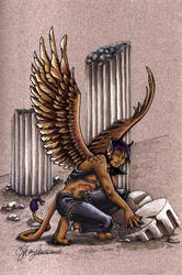 PE: Sakhr the winged sphinx by MommySpike