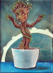 Baby Groot by MommySpike