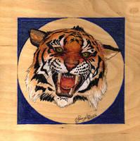 Burning Tiger by MommySpike