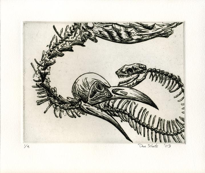 Bird and Snake by SpuneDagr
