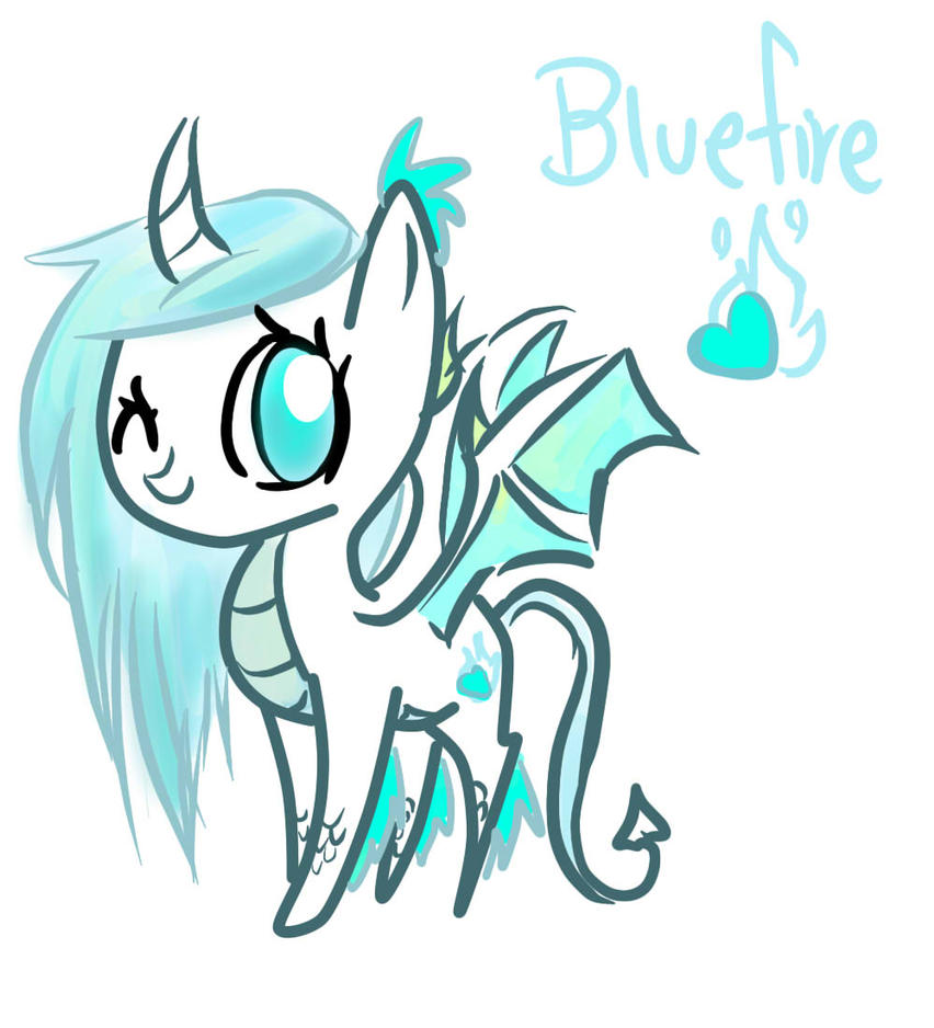 My Little Oc Bluefire The Dragon Pony By Geekpony On
