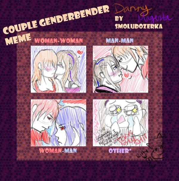 OC Couple Genderbender Meme by fairytailwizardchick