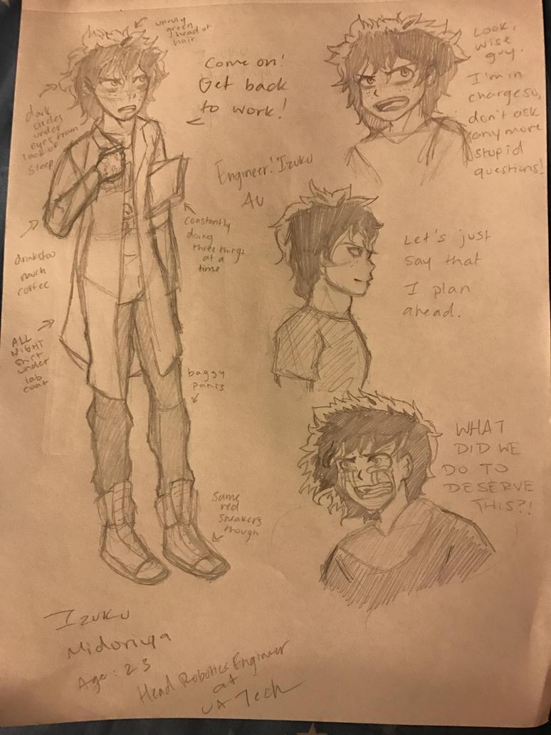 Engineer!Izuku Midoriya by fairytailwizardchick