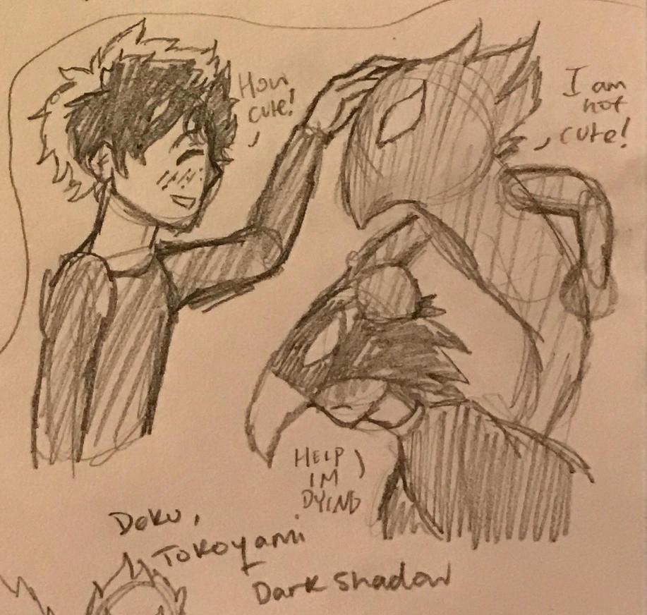 Izuku meets Dark Shadow by fairytailwizardchick