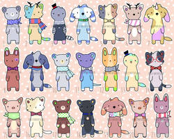 Furry Adopts! [ 15/21 OPEN! ] by KristyArtDesigns
