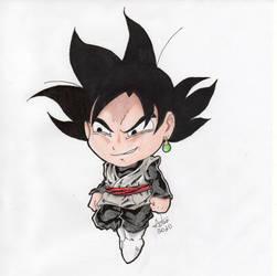 Chibi Goku Black - Traditional Art (2020)