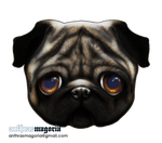Sad Pug by Anthrasmagoria