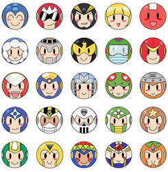 Mega Man Buttons 1 by PapillonthePirate