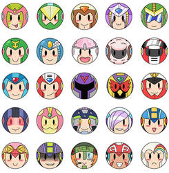 Mega Man Buttons 2 by PapillonthePirate