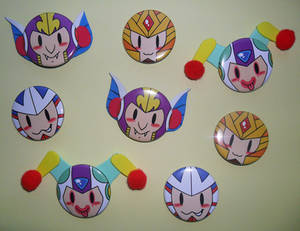 Commission Mega Man Buttons