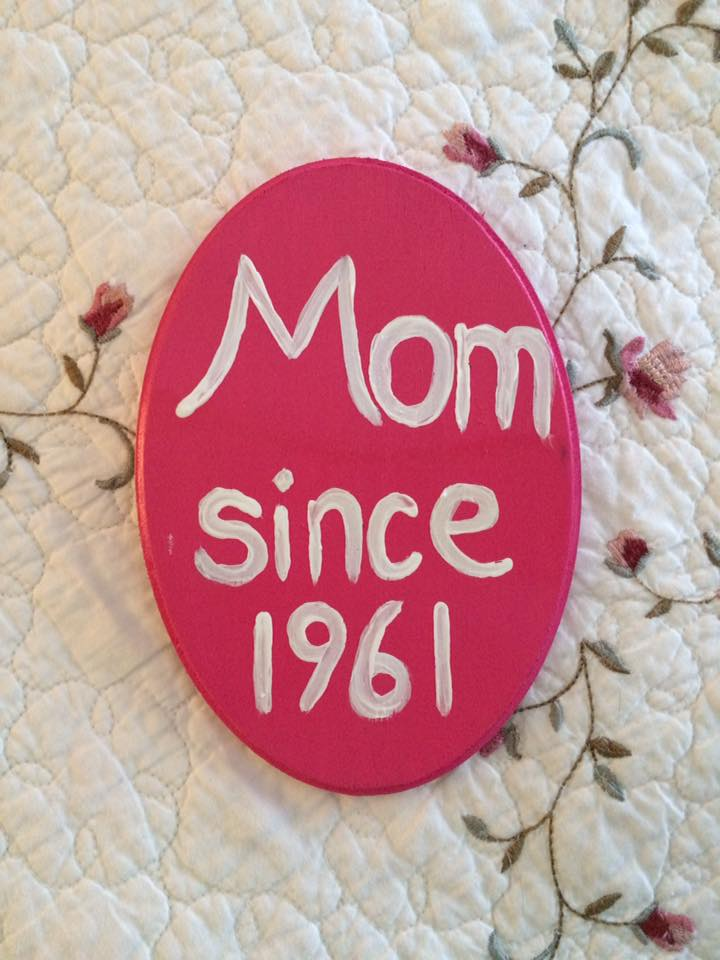 Mom Since 1961 Plaque by PaintsOfHome