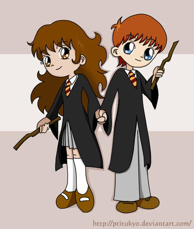 SD HP : Ron and Hermione by Ptitukyo