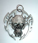 dark skull pendant stock