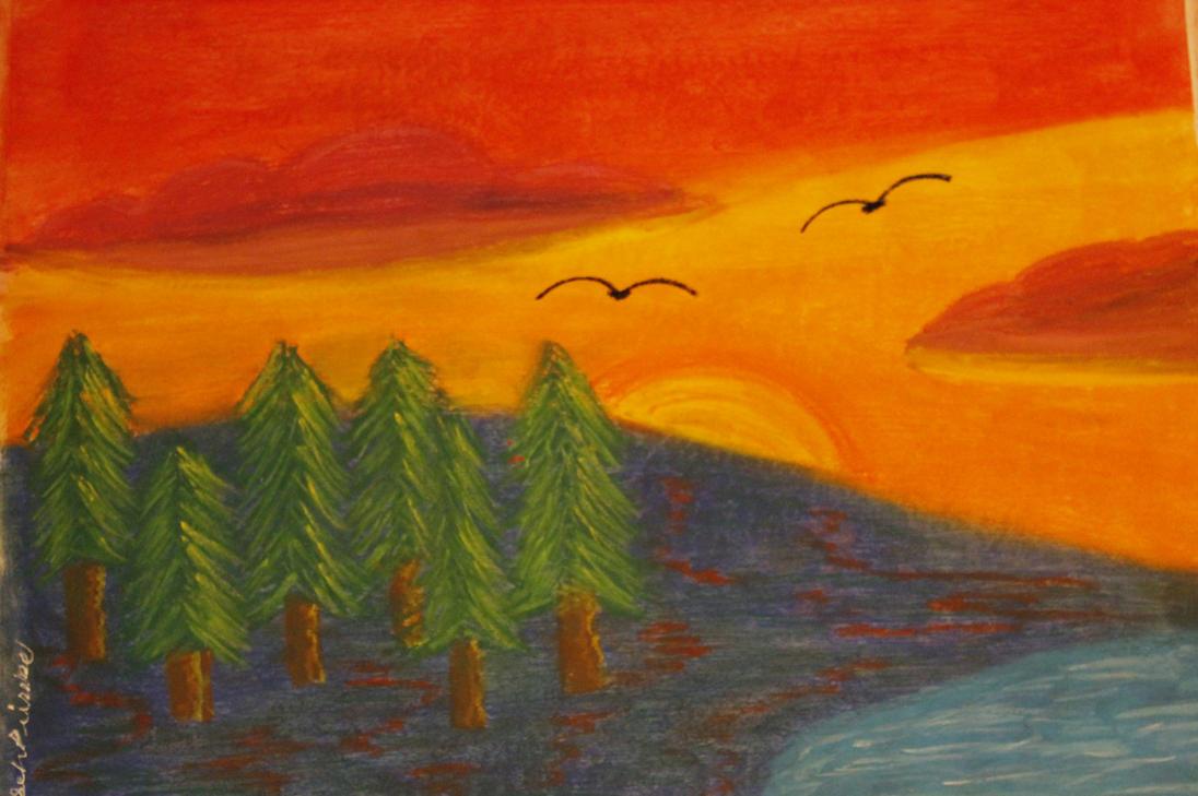 Forest Sun by darkpsy1
