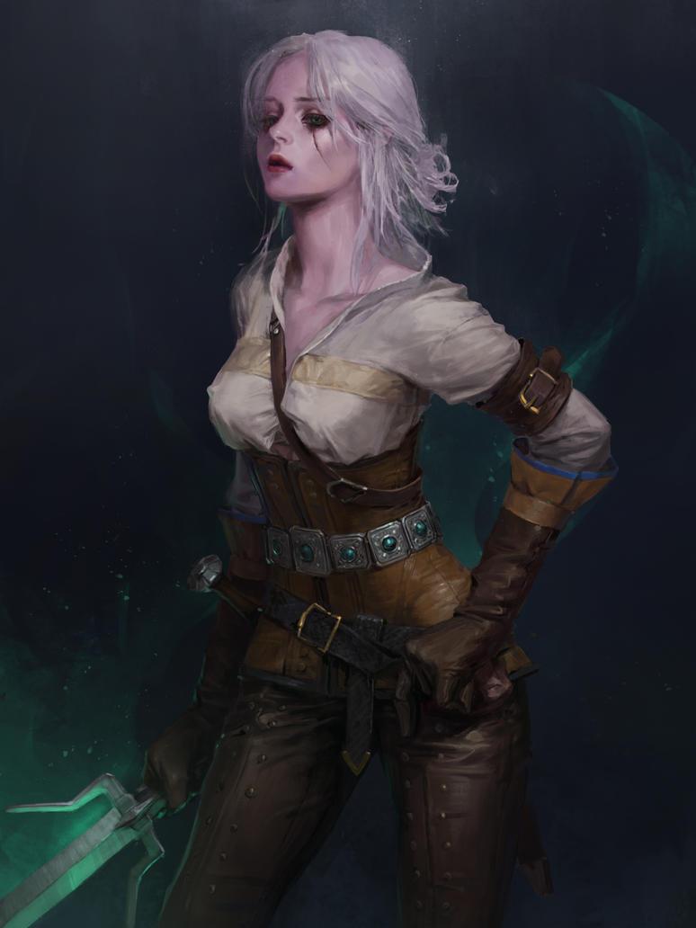 Witcher fan art ciri by totorrl