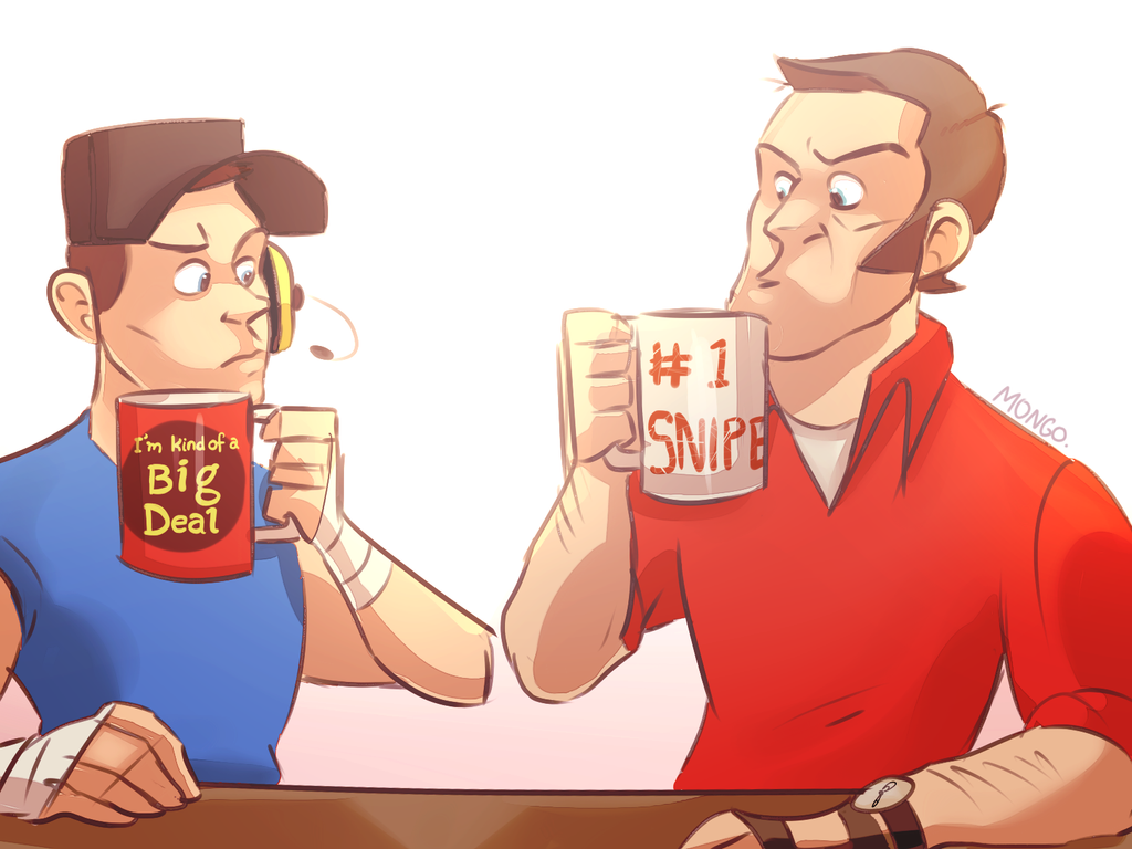 the great mug standoff by KiittKaattTF2
