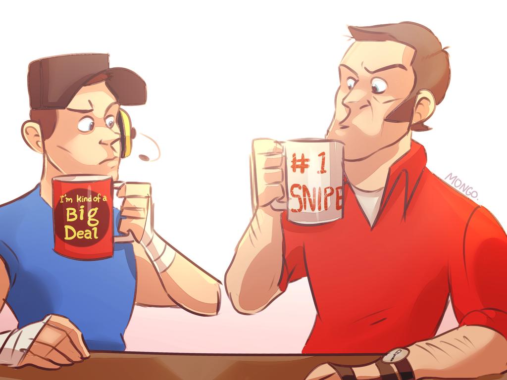 the great mug standoff by KiittKaattTF2