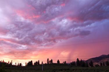 Purple Pink Stormy Sky