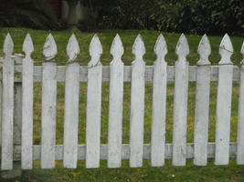 Old White Picket Fence by FoxStox