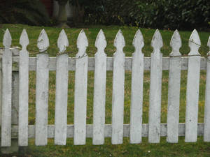 Old White Picket Fence