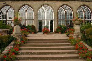 Warwick Castle Garden 2 by FoxStox