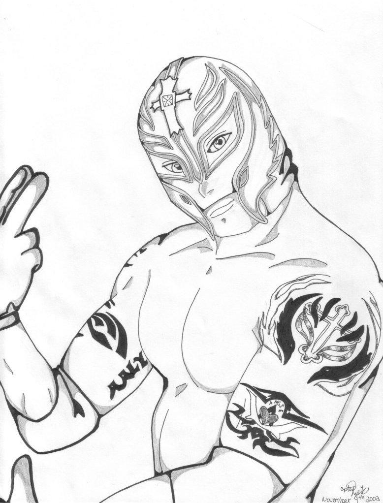Rey mysterio jr by show on deviantart for Rey mysterio mask coloring pages