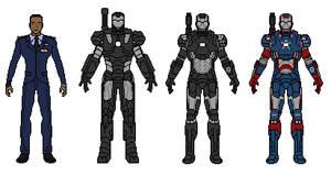 War Machine and Iron Patriot by vandersonmetal