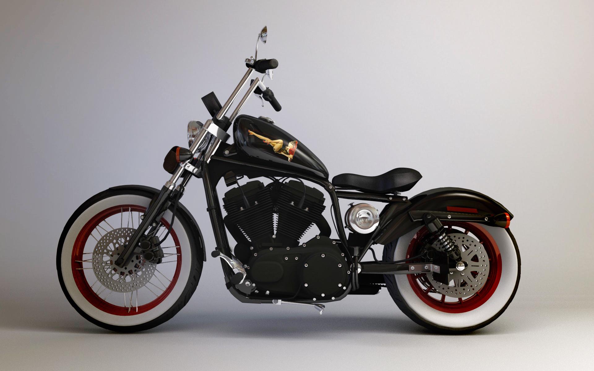 Harley davidson 883 custom wallpaper 365514 for Custom wallpaper