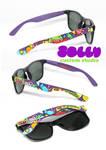 Candy Monster Glasses by PoppinCustomArt