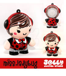 Ladybug Painted Mini Speaker by PoppinCustomArt