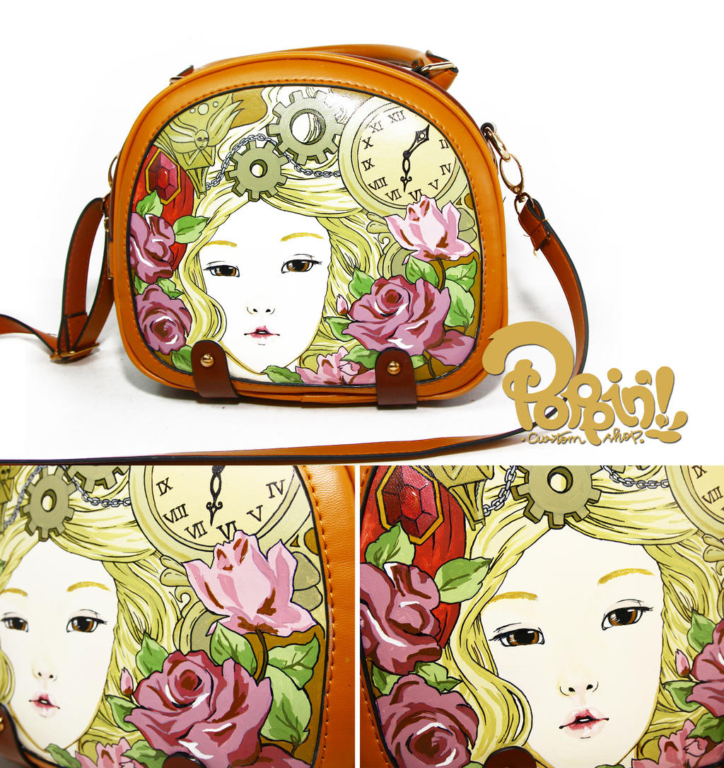 Vintage painted bag by PoppinCustomArt