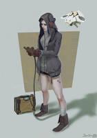 Cathy, mechanic by JefWu