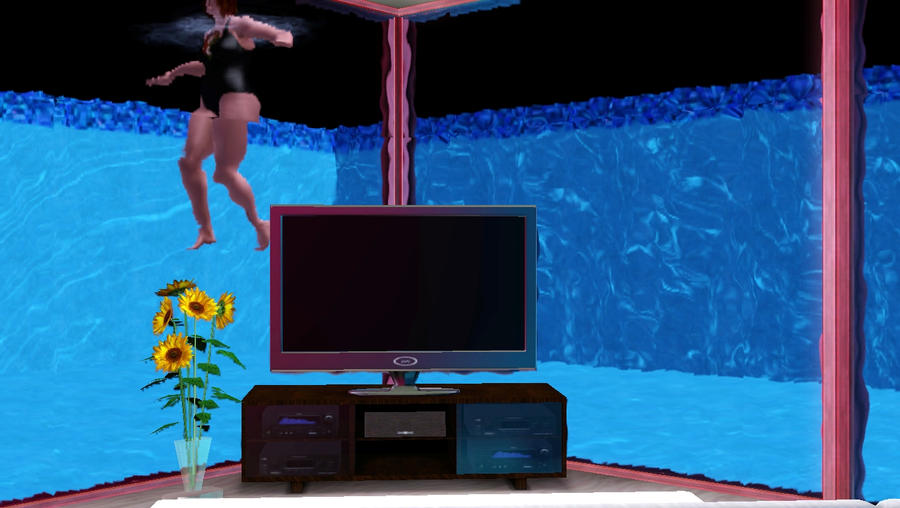 Underwater Living Room Shot By CourtneyDeborah