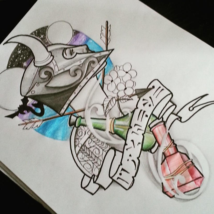 Skyrim Tattoo Stencil: Skyrim Tattoo Design By Kimberleywarrentatto On DeviantArt