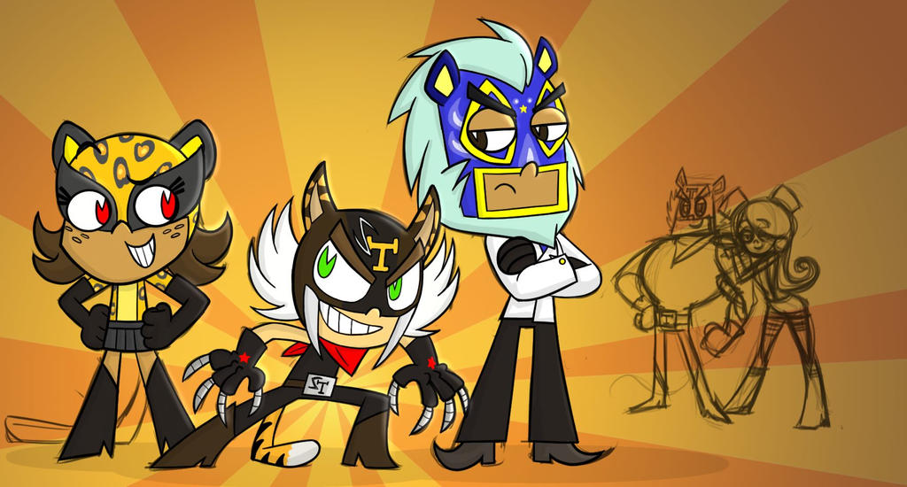 Tigre Triplets Colored Almost Done by theX-plotion