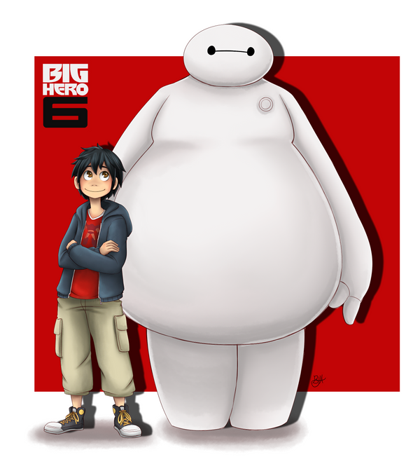 Hiro And Baymax By WafflezNFries