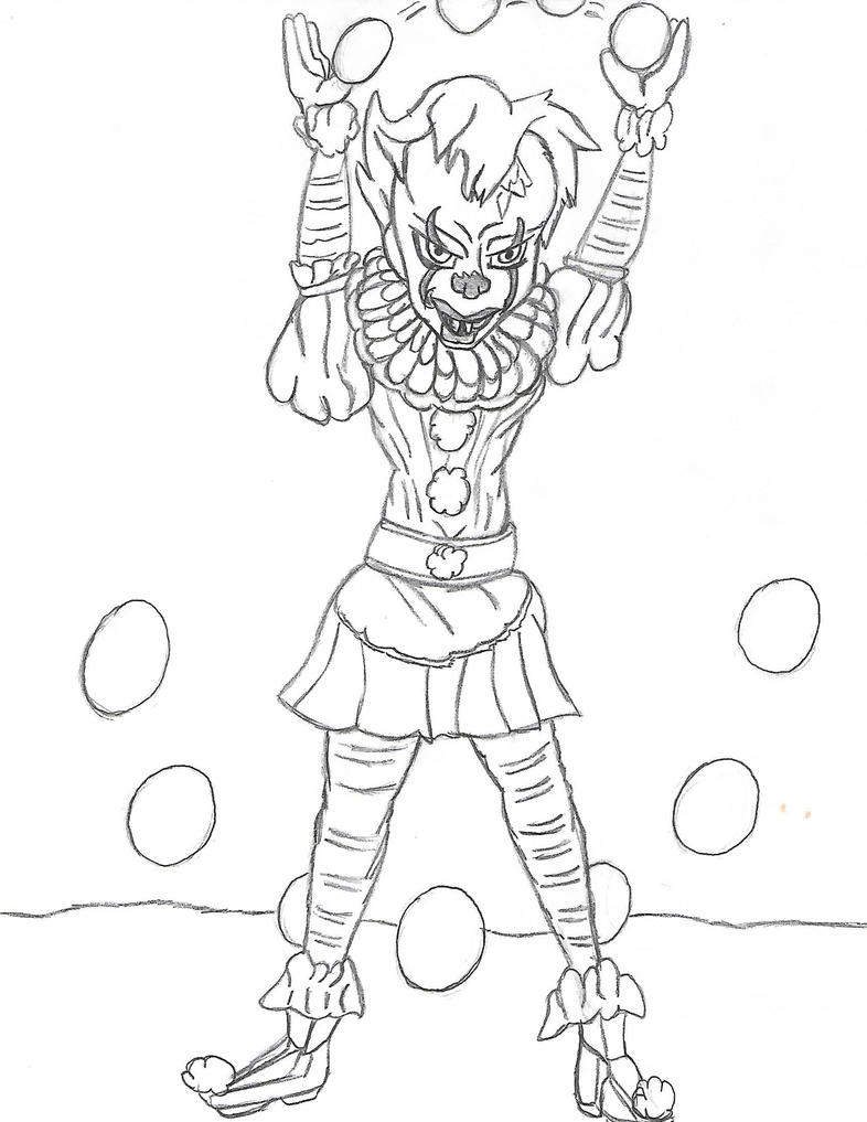 pennywise the clown coloring pages - pennywise by stardash3 on deviantart