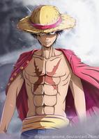 Luffy   ONE PIECE by Dragon--anime