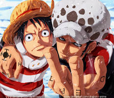 Luffy And Law Collab !