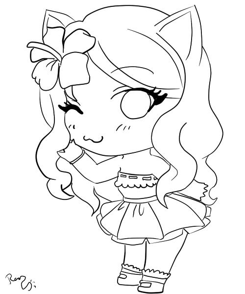 Dibujos Anime Kawaii Para Colorear Dibujos De Gatitos Kawaii Gatos