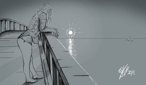 Girl on the dock