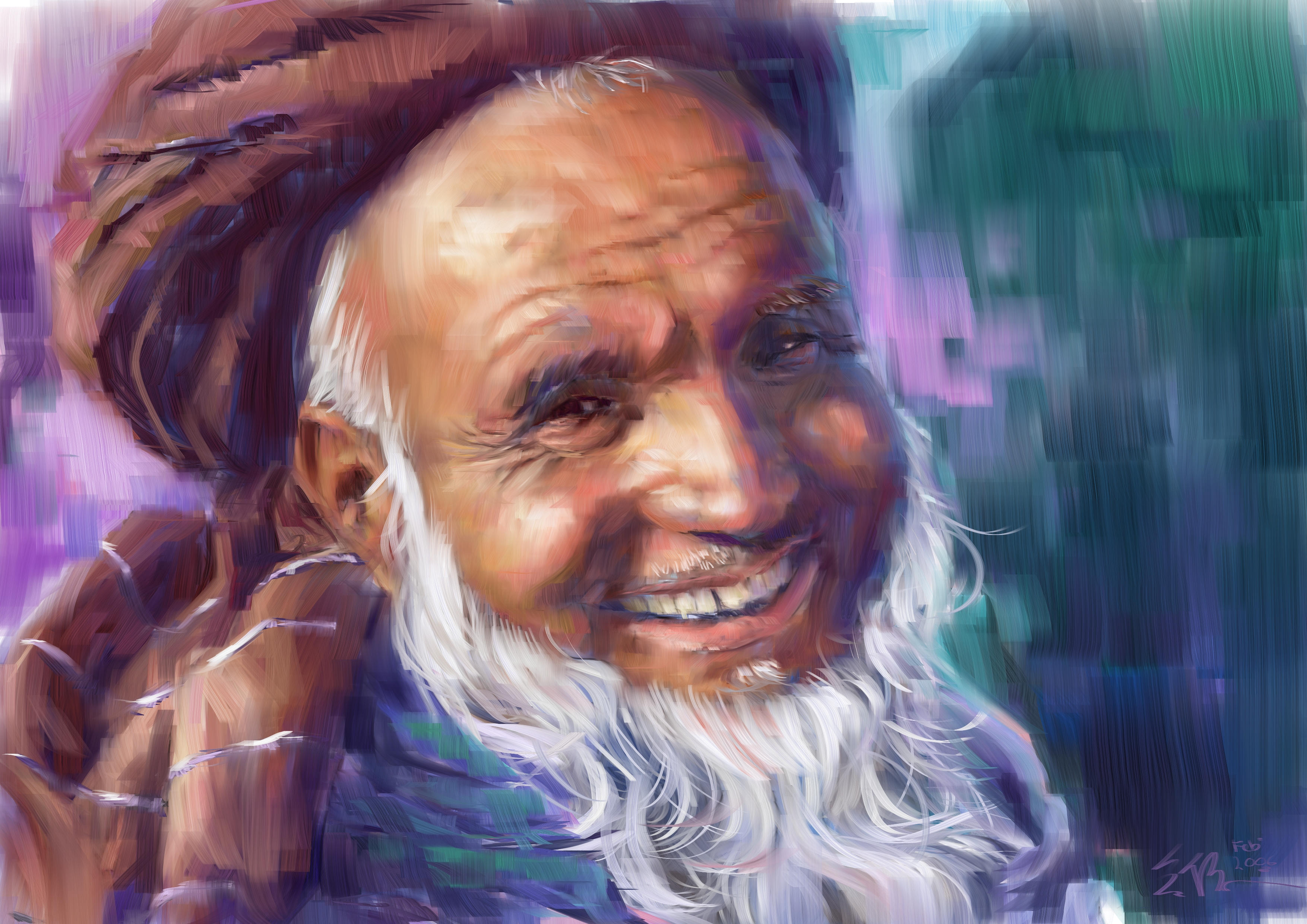 pakistan oldman by kwee85