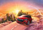 Dodge Dart sunrise by Anity-art